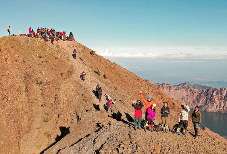 Sejumlah Pendaki Asal Pelembang Terjebak Longsor di Gunung Rinjani Pasca-gempa Lombok