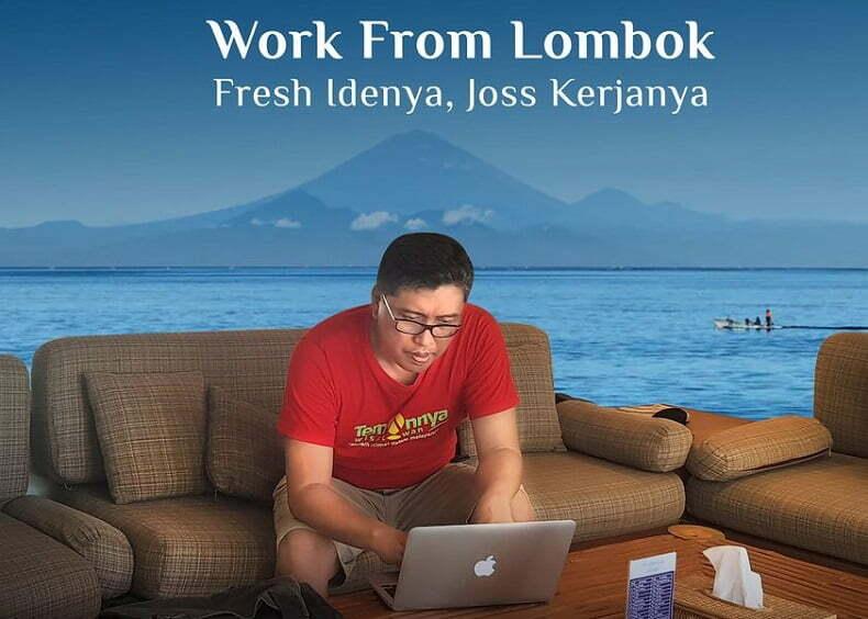 Kemenparekraf Canangkan Work From Lombok, Ini Respon Pihak NTB
